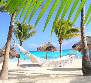 hammock blue ocean mexico