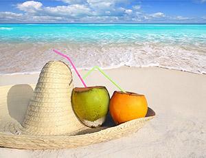 mexico sombrero hat on beach